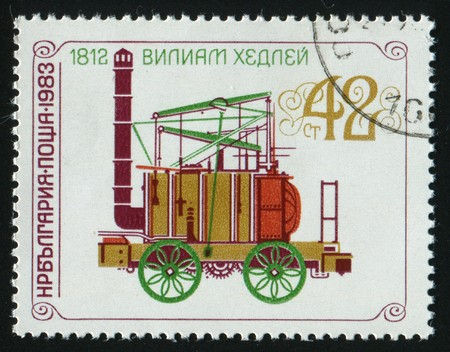 stamp printed by Bulgaria, shows locomotives, circa 1983. Stock Photo - 7302581