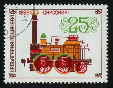 stamp printed by Bulgaria, shows locomotives, circa 1984. photo
