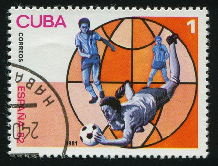 CUBA - CIRCA 1982: 1982 World Soccer Championship, Spain, circa 1982.