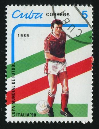 CUBA - CIRCA 1989: 1990 World Cup Soccer Championships Italy, circa 1989.