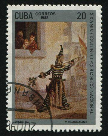 CUBA - CIRCA 1982:Natl. Folklore Ensemble, Little Devil, circa 1982.