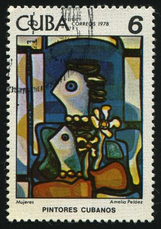 casal: CUBA - CIRCA 1978: Paintings by Amelia Pelaez del Casal, circa 1978. Stock Photo