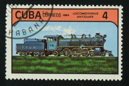 CUBA - CIRCA 1984: Early Locomotives. Ancient transport, circa 1984. Stock Photo - 7307767