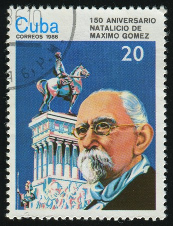 gomez: CUBA - CIRCA 1986: 150th Birth Anniv. of Maximo Gomez, circa 1986.
