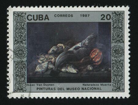 stilllife: CUBA - CIRCA 1987: Still-life by Isaac van Duynen, circa 1987. Stock Photo