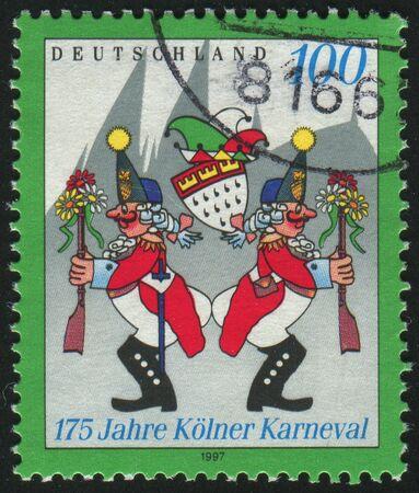grenadier: GERMANY - CIRCA 1997: stamp printed by Germany, shows Cologne Carnival, circa 1997. Stock Photo