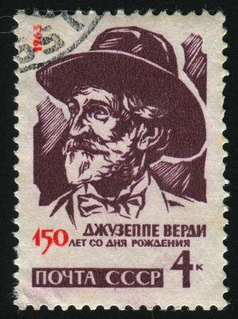 verdi: RUSSIA - CIRCA 1963: stamp printed by Russia, shows Giuseppe Verdi, circa 1963. Editorial