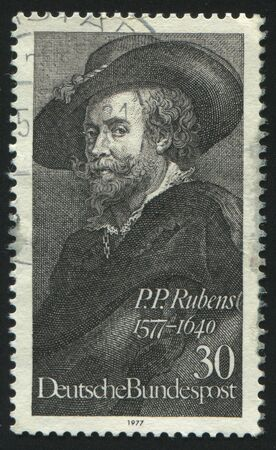 GERMANY  - CIRCA 1977: stamp printed by Germany, shows Rubens, Selfportrait,  circa 1977.