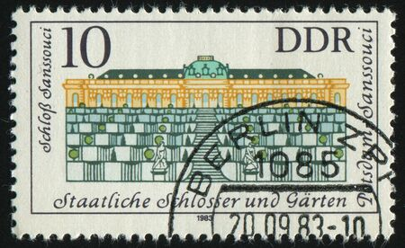 GERMANY- CIRCA 1983: stamp printed by Germany, shows Governmental Palaces, Potsdam Gardens, circa 1983. photo