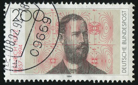 hertz: GERMANY- CIRCA 1994: stamp printed by Germany, shows Heinrich Hertz Physicist, circa 1994. Editorial