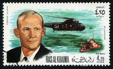 khaima: RAS AL KHAIMA - CIRCA 1986: Edward Aldrin is an American mechanical engineer, retired United States Air Force pilot and astronaut who was the Lunar Module pilot on Apollo 11, circa 1986.