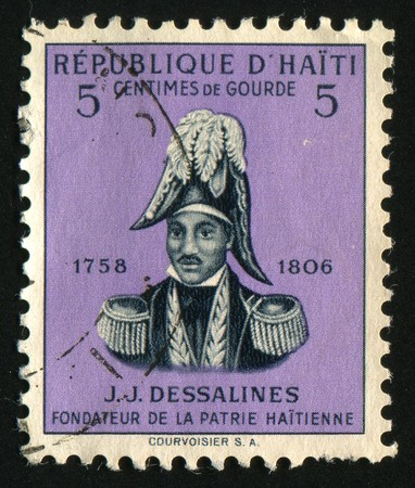 HAITI - CIRCA 1954: Jean Jacques Dessalines was a leader of the Haitian Revolution and the first ruler of an independent Haiti under the 1801 constitution, circa 1954. Stock Photo - 7498302