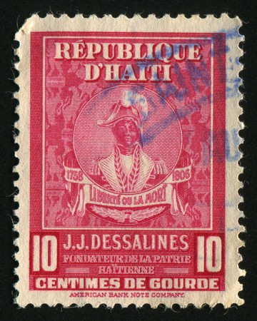 HAITI - CIRCA 1945: Jean Jacques Dessalines was a leader of the Haitian Revolution and the first ruler of an independent Haiti under the 1801 constitution, circa 1945. Stock Photo - 7498342