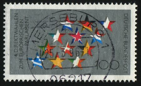 parliamentary: GERMANY- CIRCA 1994: stamp printed by Germany, shows Fourth European Parliamentary Elections, circa 1994.
