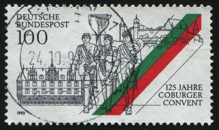 GERMANY- CIRCA 1993: stamp printed by Germany, shows Coburger Convent, circa 1993. photo