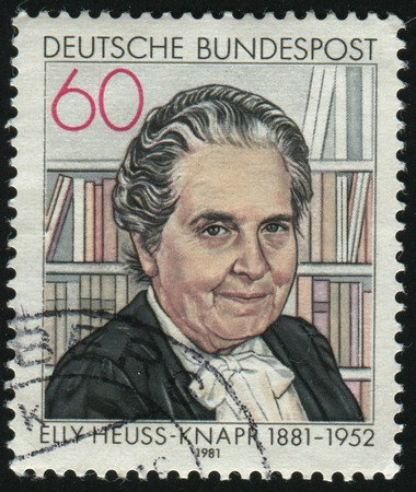 GERMANY- CIRCA 1981: stamp printed by Germany, shows Elly Heuss-Knapp, circa 1981. Editorial
