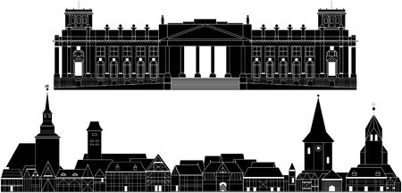 Аrchitectural. This image is a vector illustration and can be scaled to any size without loss of resolution.