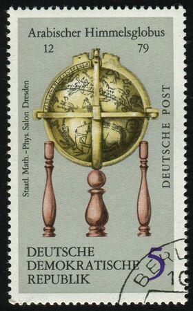 GERMANY- CIRCA 1971: stamp printed by Germany, shows Arab Celestial Globe, circa 1971. photo