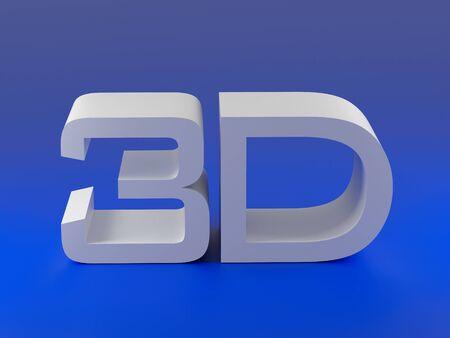 stereoscope: 3d movie sign. 3d illustration over  white backgrounds.