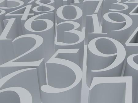 High resolution image.  3d rendered illustration. 3d mathematics white symbol. illustration