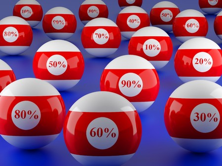 High resolution image.  3d rendered illustration. Billiard balls isolated on blue. illustration