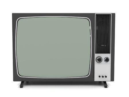 Old vintage TV over a white background. 3d rendered illustration. illustration