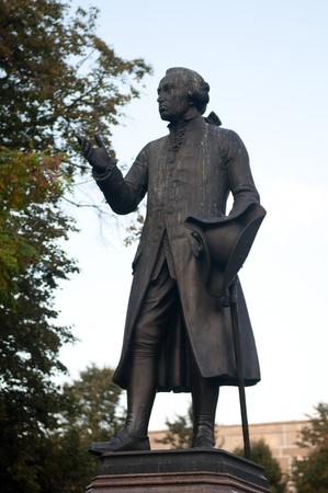 immanuel: Statue of Immanuel Kant in Kaliningrad, Russia. High resolution image. Stock Photo