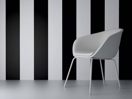 3d render home Interior. High resolution image. Chair in the room. Stock Photo - 8053945