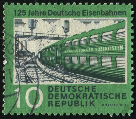 GERMANY- CIRCA 1960: stamp printed by Germany, shows �Young Socialists express, circa 1960. photo