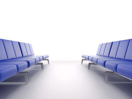 3d render airport interior. High resolution image. Chair in the hall. Stock Photo - 8077959