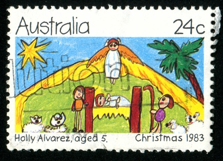 AUSTRALIA - CIRCA 1983: stamp printed by Australia, shows angel, circa 1983