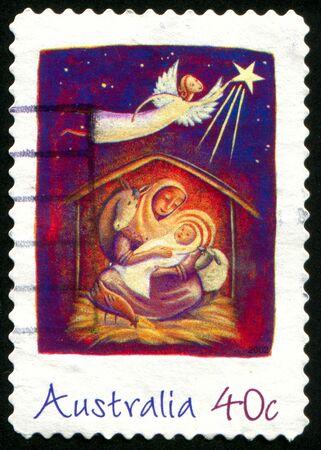 Australien - CIRCA 2002: Stempel gedruckt von Australien, Weihnachten, circa 2002 zeigt Standard-Bild - 8320949