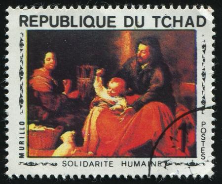 murillo: CANADA - CIRCA 1969: Holy Family, by Murillo, circa 1969.
