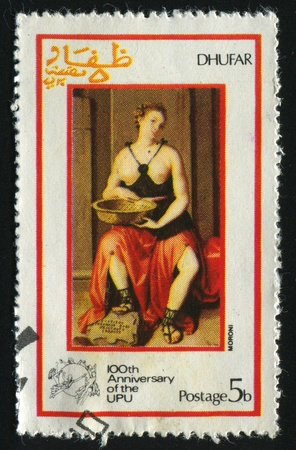 GUINEA - CIRCA 1972: Altes Bild der schönen Frau, circa 1972.