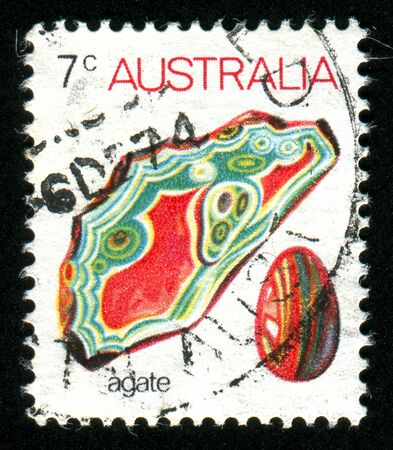 AUSTRALIA - CIRCA 1973: stamp printed by Australia, shows mineral, circa 1973 Stock Photo - 8479993