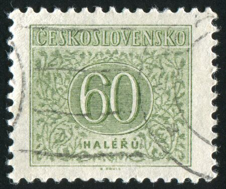 czechoslovakia: CZECHOSLOVAKIA - CIRCA 1954: stamp printed by Czechoslovakia, shows ornament, circa 1954