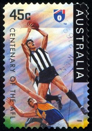 AUSTRALIA - CIRCA 1996: stamp printed by Australia, shows rugby, circa 1996