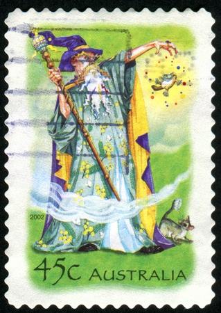 AUSTRALIA - CIRCA 2002: stamp printed by Australia, shows Wizard, circa 2002 photo