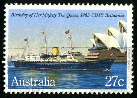 AUSTRALIA - CIRCA 1983: stamp printed by Australia, shows Queen Elizabeth II, circa 1983 photo
