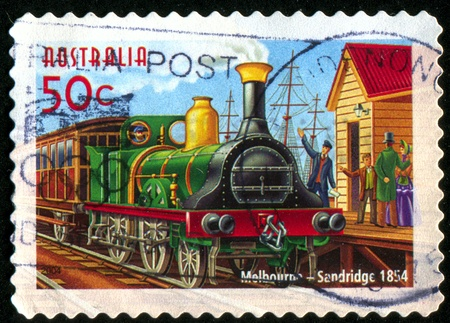 AUSTRALIA - CIRCA 2004: stamp printed by Australia, shows Australian Railways, circa 2004 photo