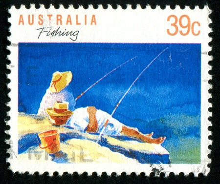 AUSTRALIA - CIRCA 1989: stamp printed by Australia, shows fishing, circa 1989 photo