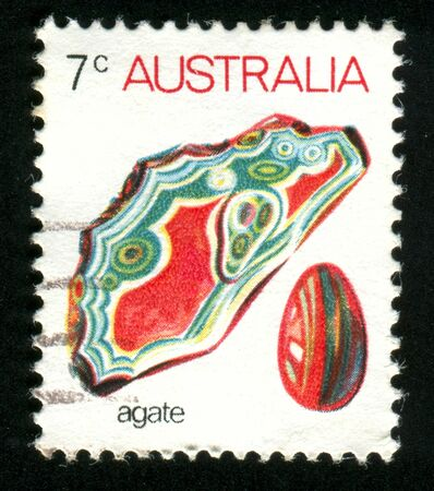 AUSTRALIA - CIRCA 1973: stamp printed by Australia, shows Agate, circa 1973 Stock Photo - 8518198