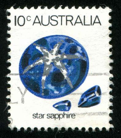 AUSTRALIA - CIRCA 1973: stamp printed by Australia, shows Star sapphire, circa 1973 Stock Photo - 8518202