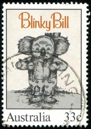 AUSTRALIA - CIRCA 1985: stamp printed by Australia, shows Blinky Bill, by Dorothy Wall, circa 1985