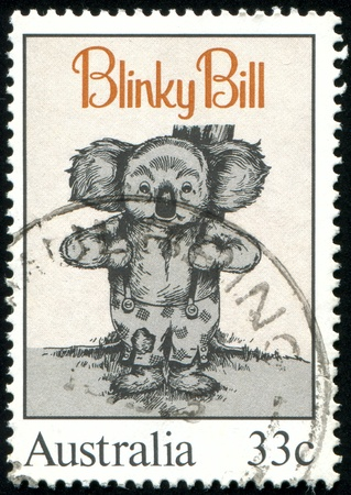 australia stamp: AUSTRALIA - CIRCA 1985: stamp printed by Australia, shows Blinky Bill, by Dorothy Wall, circa 1985