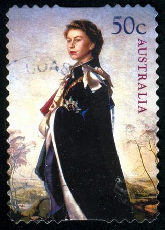 queen elizabeth: AUSTRALIA - CIRCA 2006: stamp printed by Australia, shows Queen Elizabeth II, circa 2006