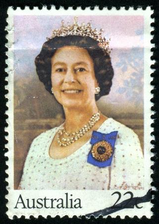 AUSTRALIA - CIRCA 1980: stamp printed by Australia, shows Queen Elizabeth II, circa 1980