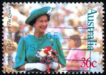 AUSTRALIA - CIRCA 1987: stamp printed by Australia, shows Queen Elizabeth II, circa 1987