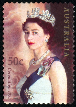 queen elizabeth: AUSTRALIA - CIRCA 2003: stamp printed by Australia, shows Queen Elizabeth II, circa 2003