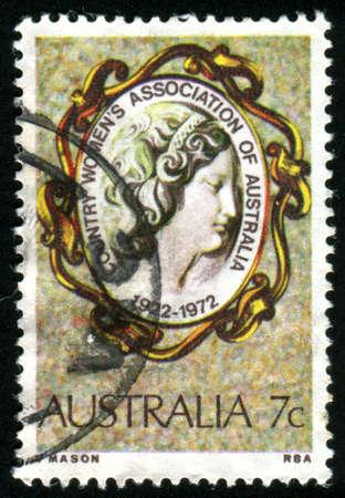 AUSTRALIA - CIRCA 1972: stamp printed by Australia, shows Cameo Brooch, circa 1972